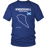 Knockhill Racing Circuit Scotland Racetrack Outline Series T-shirt and Hoodie