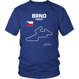 BRNO Circuit Czech Republic Track Outline Series T-shirt and Hoodie