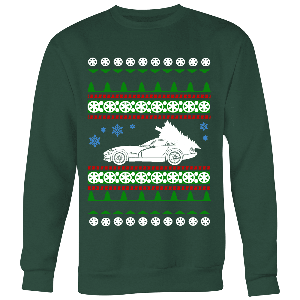 Viper 2nd Generation Dodge Ugly Christmas Sweater hoodie and long sleeve t-shirt ACR SRT sweatshirt