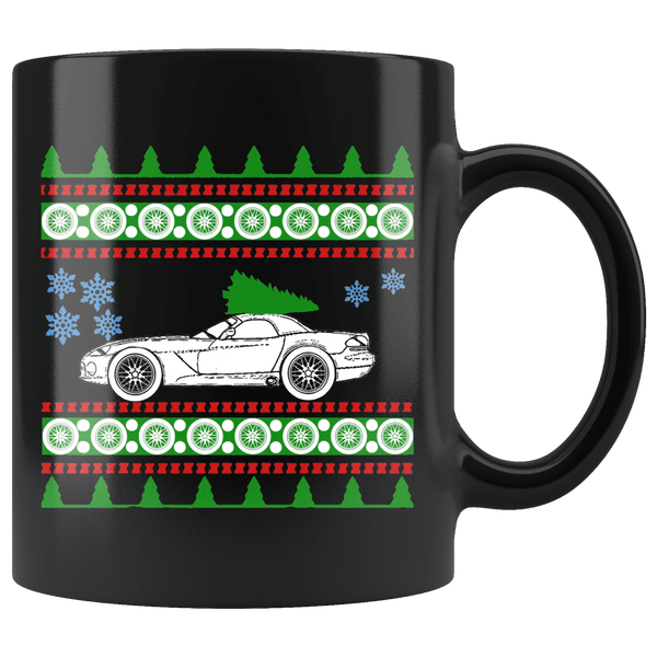 Third Generation Dodge Viper Ugly Christmas Sweater Mug