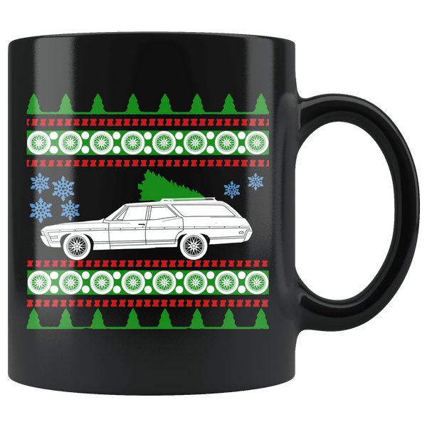 1968 Chevy Caprice Classic Wagon Ugly Christmas Sweater Mug