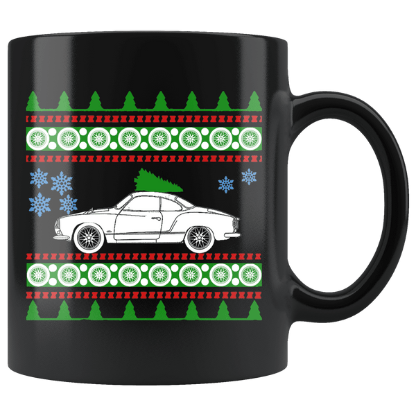 1972 VW Kharman Ghia Christmas Sweater Mug
