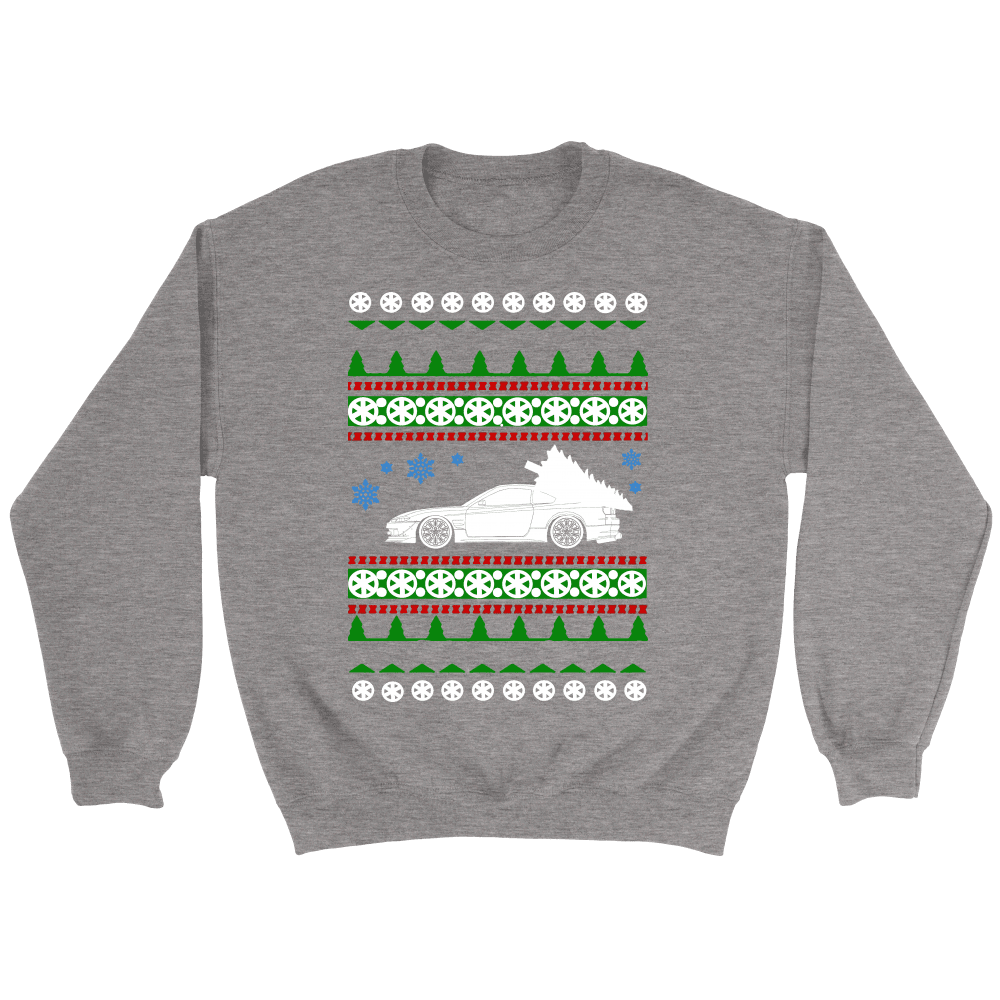Nissan S15 Gray ugly christmas sweater 240sx Silvia crewneck