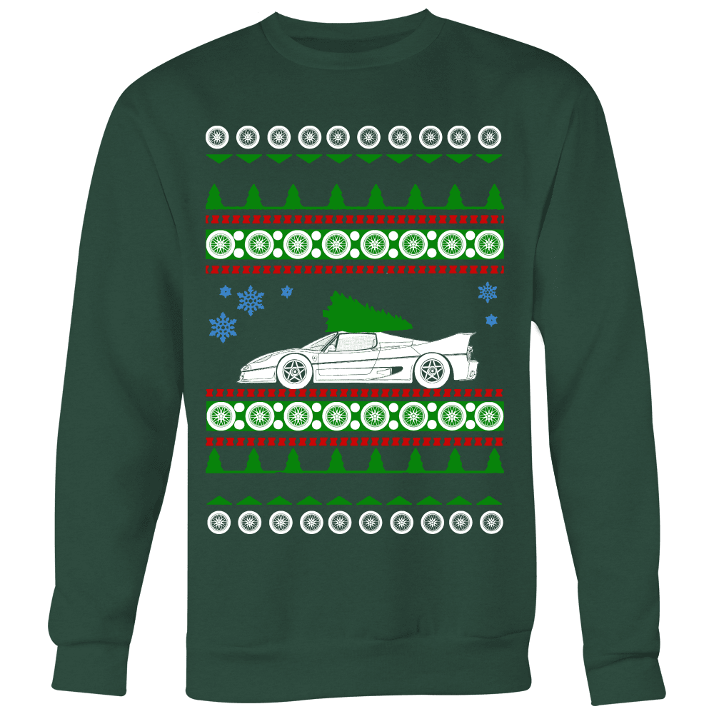 Ferrari F50 Ugly Christmas Sweater, hoodie and long sleeve t-shirt