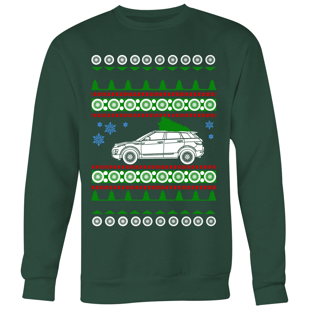 range rover evoque ugly christmas sweater