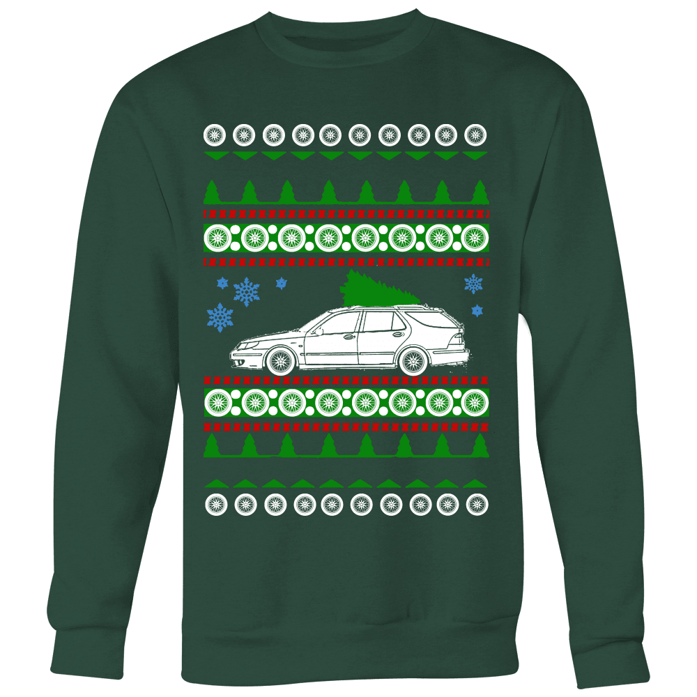 Saab 9-5 Wagon Aero Ugly Christmas Sweater, hoodie and long sleeve t-shirt