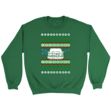 Front View Volvo 240 245 Ugly Christmas Sweater sweatshirt