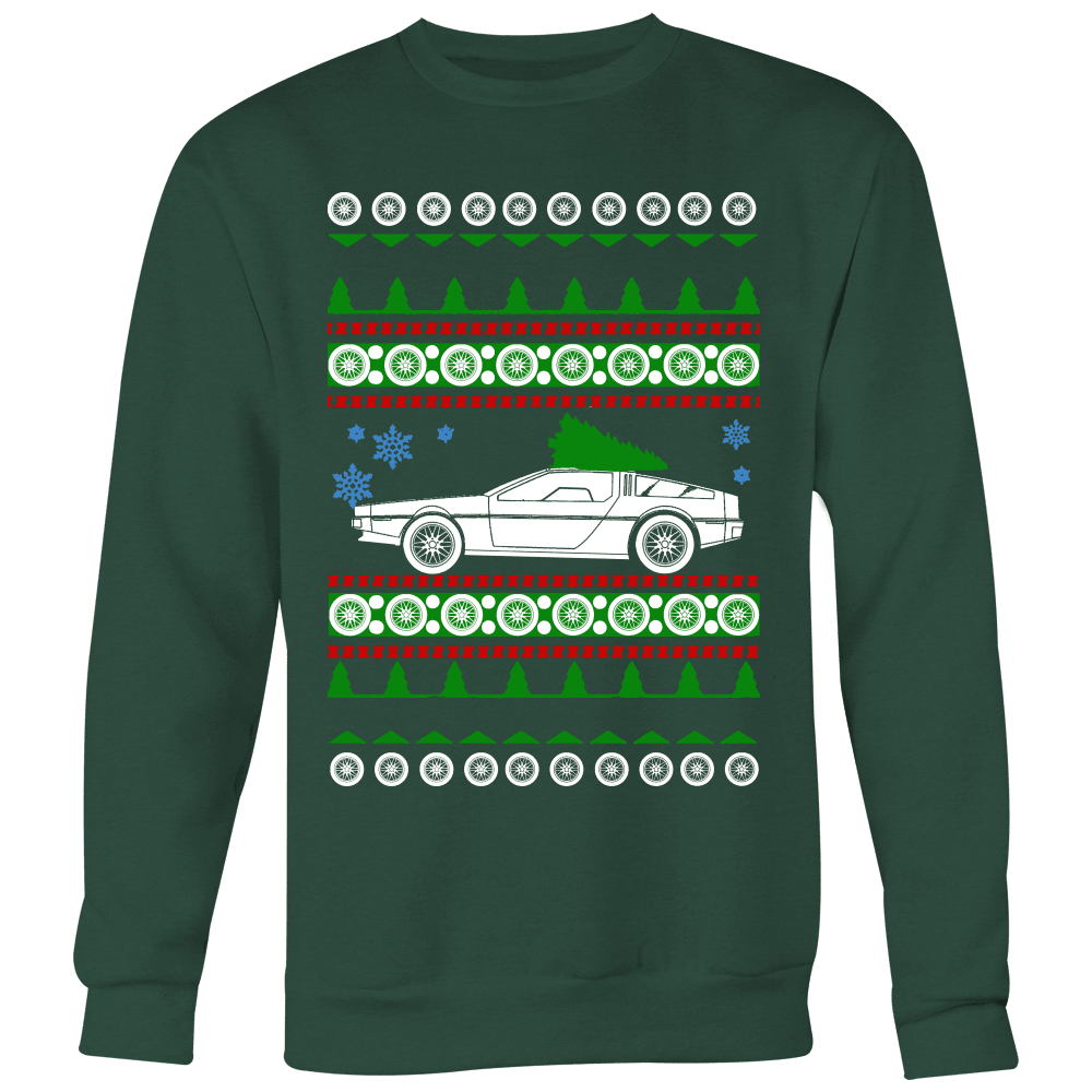 Delorean DMC-12 ugly christmas sweater