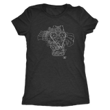 Toyota 4AGE Engine Blueprint Illustration t-shirt mens and womens