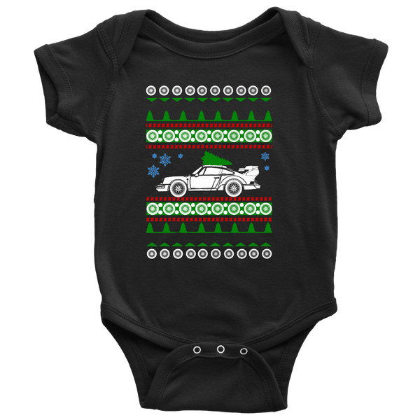 "Porsche 911 1991 Turbo Ugly Christmas ""sweater""  Onesie and toddler t-shirts 964"
