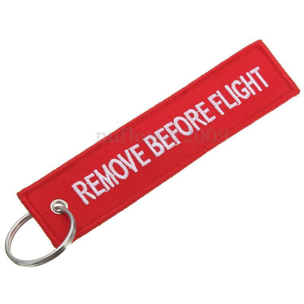 Remove Before Flight Keychain Tag- Tool and Dye Designs