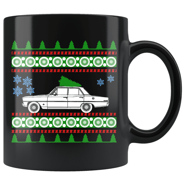 1966 Chevy Nova Christmas Sweater Mug