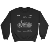 Motorcycle Patent Design- Gift for motorcyle rider sweatshirt