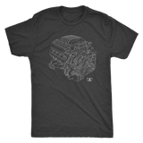 Engine Blueprint T-shirt Dodge HEMI 6.2L Hellcat  Illustration
