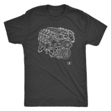 LS7 Engine Blueprint Illustration Series T-shirt