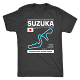 Suzuka International Racing Course Race Track Outline Series T-shirt Ver. 3