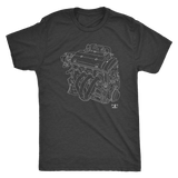 H22 Engine Blueprint Illustration T-shirt
