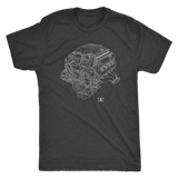 Dodge Demon Engine Blueprint Illustration Series T-shirt