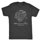 "Engine Blueprint Series HEMI Hellcat ""like an LS or Coyote, but for men."" T-shirt or Hoodie"
