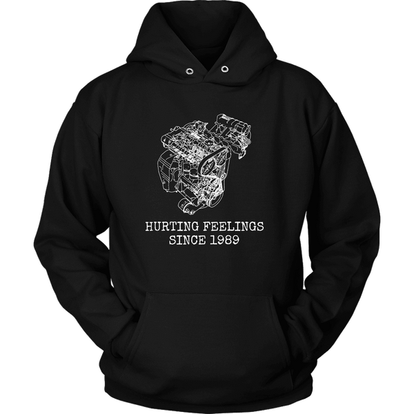 DSM 4G63 Hurting Feelings Since 1989 Hooded Sweatshirt Mens (unisex)
