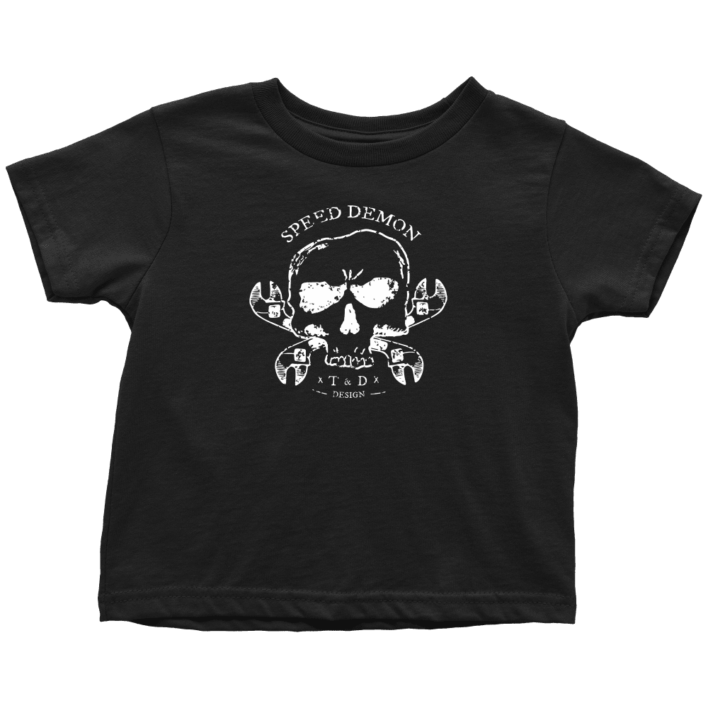 Tool and Dye Designs Speed Demon Toddler and Youth Shirts