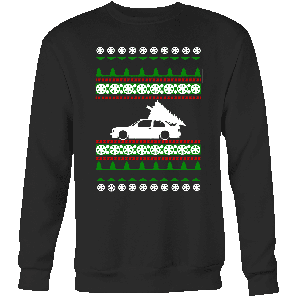 "BMW E30 M3 Christmas Sweater ""Ugly Christmas Sweater"" Crewneck Sweatshirt sweatshirt"