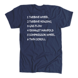 T&D Illustration Series- Twin Scroll Turbo mens Premium (unisex) t-shirt front and rear print