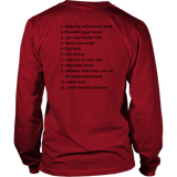 T&D Illustration Series Coilover Mens(unisex) Long Sleeve T-shirt multiple colors(front and rear print) Dark Version