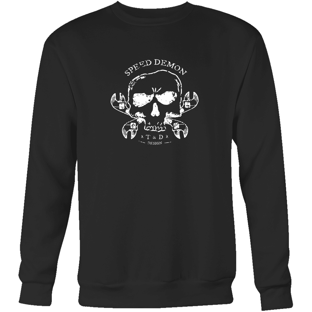 Tool and Dye Designs Speed Demon Crewneck Sweatshirt Mens (unisex)