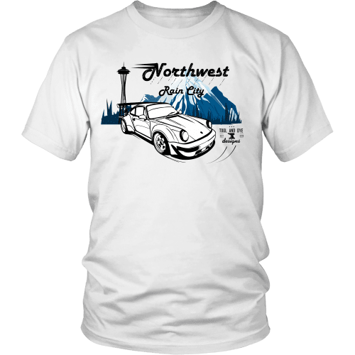 Northwest Rain City Porsche RWB Rauhwelt t shirt mens white