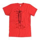 T&D Illustration Series Coilover Premium Mens T-shirt multiple colors(front and rear print) Dark Version