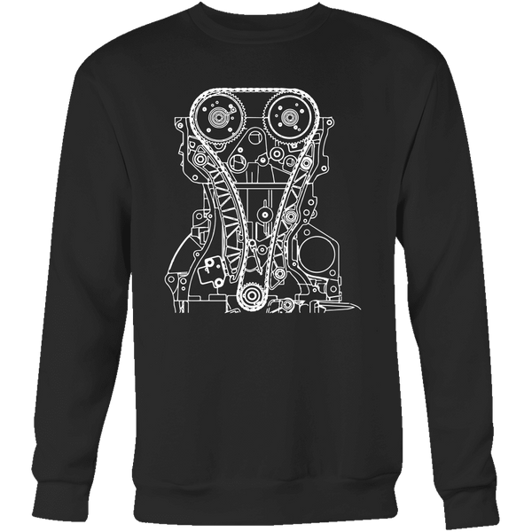 T&D Illustration Series 4B11 Evo X engine Mens Crewneck Sweatshirt (unisex)