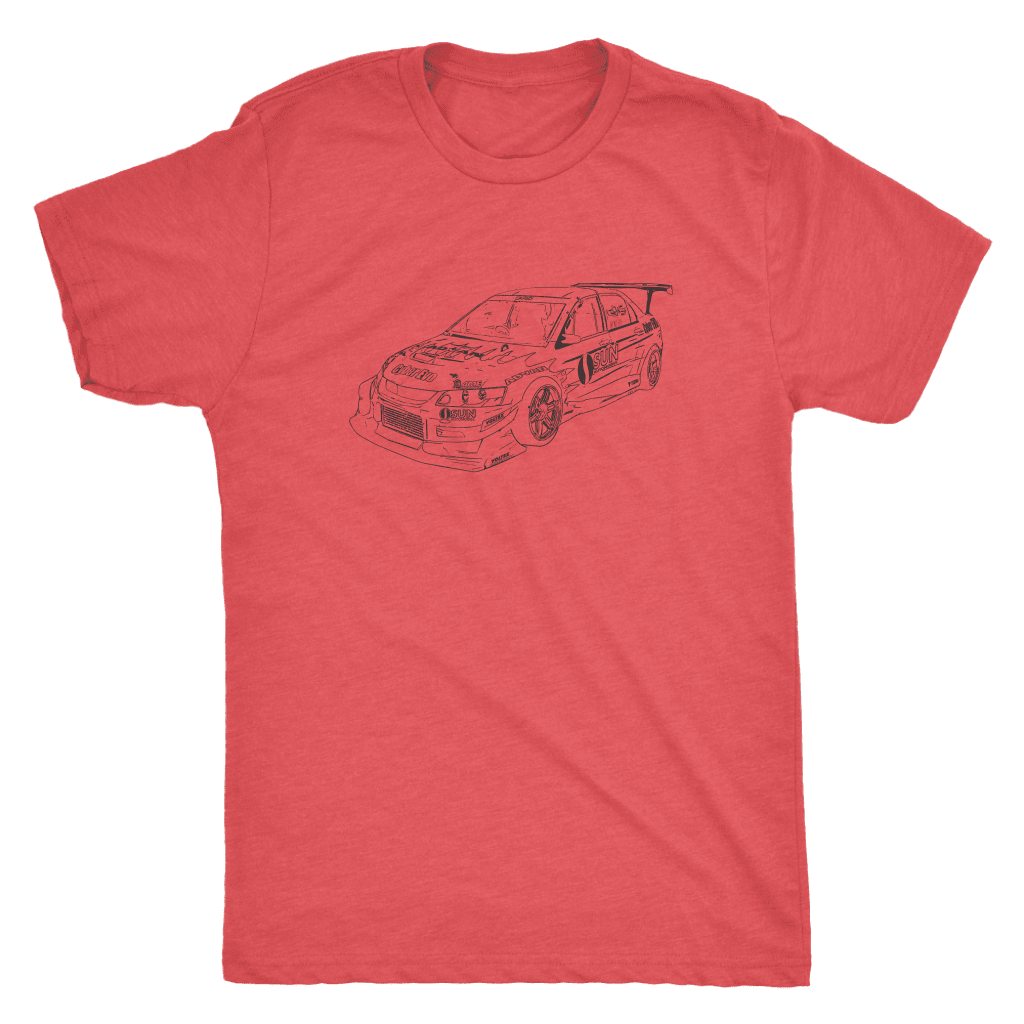 CyberEvo Time Attack Lancer Evolution Men's Tri-Blend T-shirt