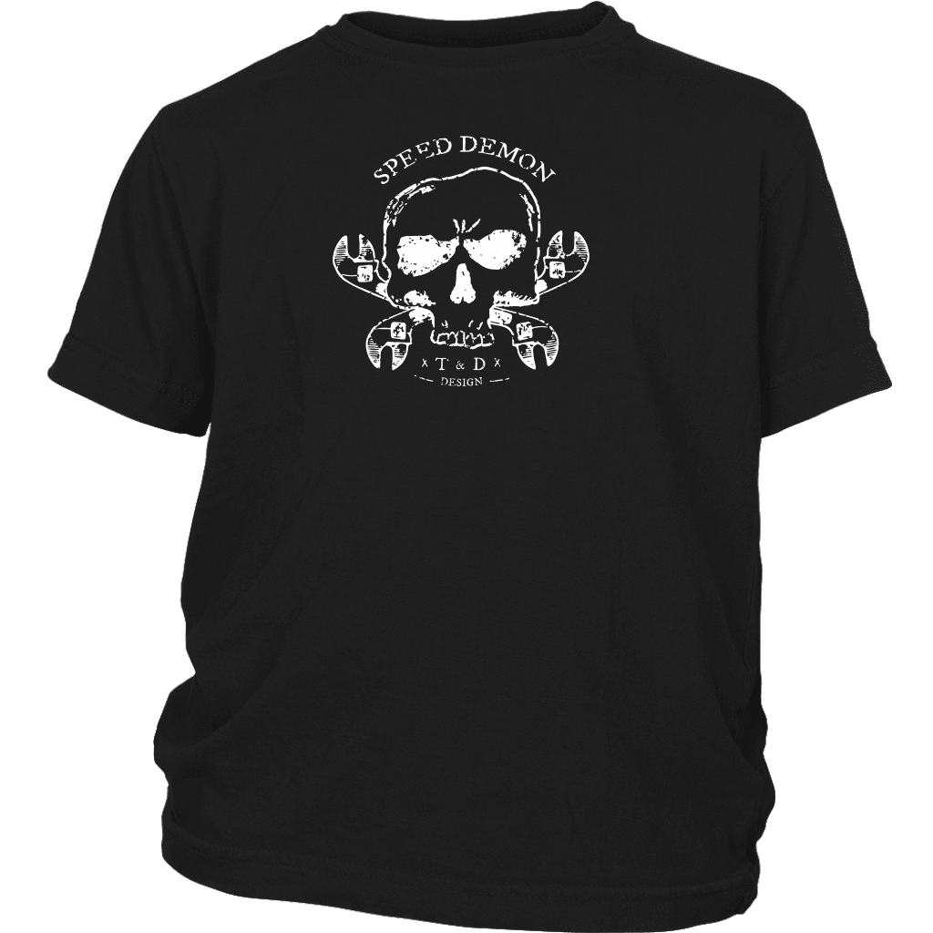 Tool and Dye Designs Speed Demon Kids Youth T shirt