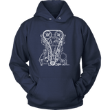 T&D Illustration Series 4B11 Evo X engine Mens (unisex) Hoodie