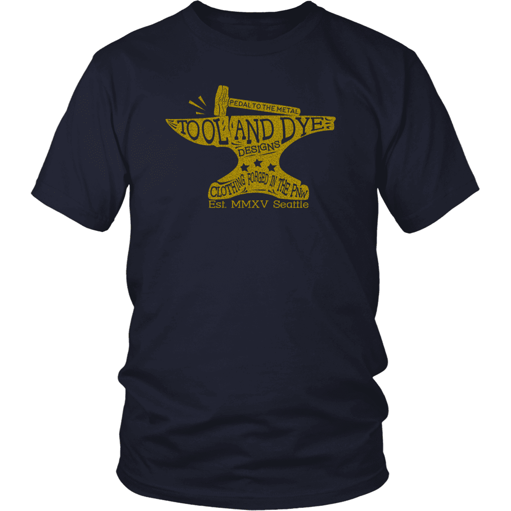 Pedal to the Metal Mens (unisex) T-shirt (short and long sleeve)