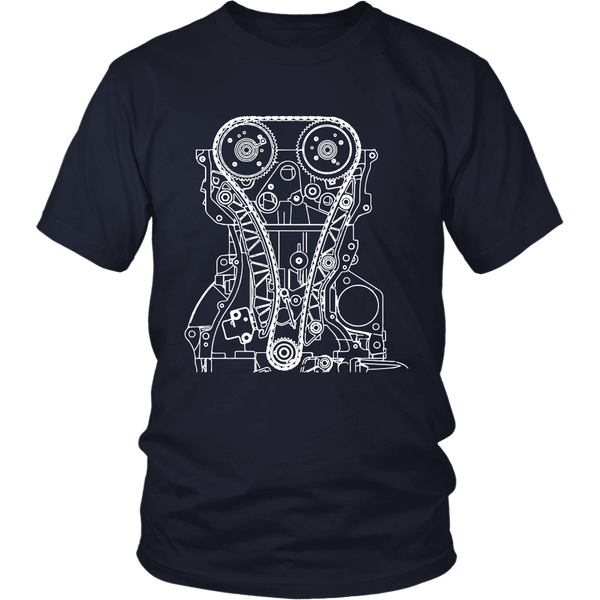T&D Illustration Series 4B11 Evo X engine  Mens (unisex) T-shirt