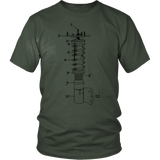 T&D Illustration Series Coilover Mens(unisex) T-shirt multiple colors(front and rear print) Dark Version