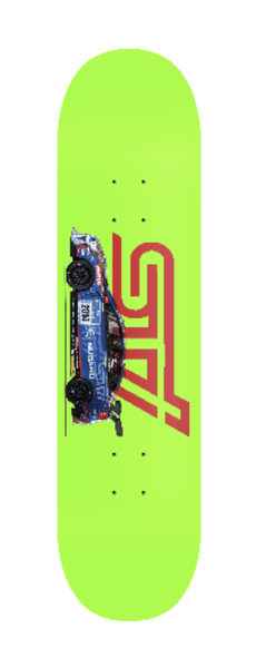 Subaru WRX STI Race car skateboard deck subie