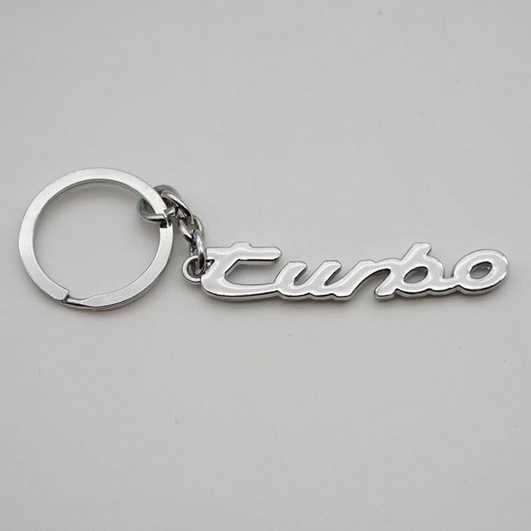 porsche turbo script key chain