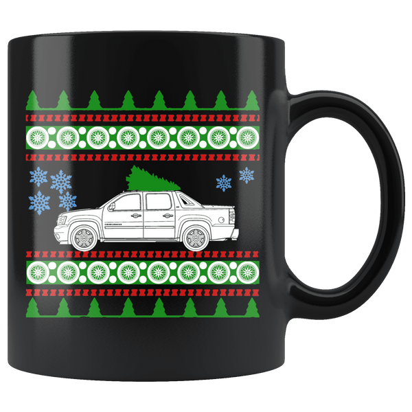 2007 Chevrolet Avalanche Christmas Sweater Mug
