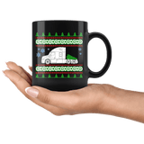 Freightliner Cascadia Semi Truck Ugly Christmas Sweater Mug