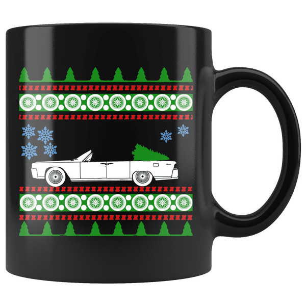 1963 Lincoln Continental Christmas Sweater Mug