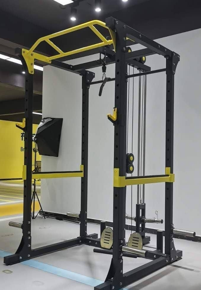 IC-1007  Multi Function Squat Rack Cage with Lat Pulldown Low Row. Pre-Order! ETA NOVEMBER