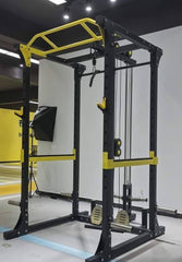 IC-1007 Multi Function Squat Rack Cage with Lat Pulldown & Low Row