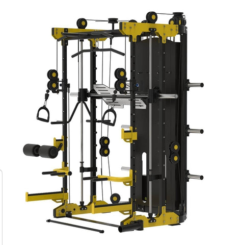 The Sparta Total Multi-Functional Trainer & Smith Machine with HUGE 2 x 100kg Weight Stacks
