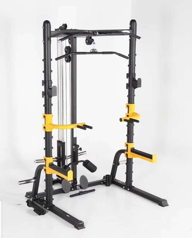 IC-1003HR Half Squat Rack With Lat Pulldown & Low Row Plate Loaded In Stock