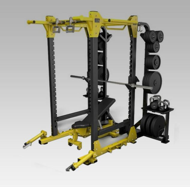 IC-6073 Power Cage Squat Rack Full Commercial