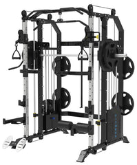 The Samson Multi Functional Trainer & Smith Machine with HUGE 2 x 100kg Weight Stacks