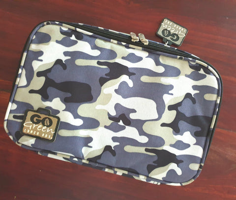 Go Green Lunchbox Set - Blue Camo
